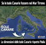 Se le Isole Canarie fossero nel Mar Tirreno …